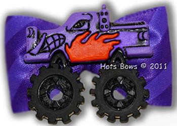 Dog Bow Barrette- Purple Crusher