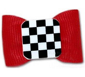 Dog Bow Barrette - Grand Prix