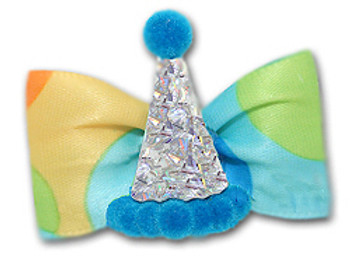 Dog Bow Barrette - Party Time