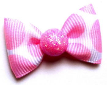 Dog Hair Bow Barrette - Bubble Gum
