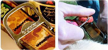 Skulls & Bike Aluminum Latch-Lock Dog Collars