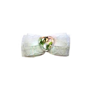 White Wedding Bow Barrette by Ruff Ruff Couture