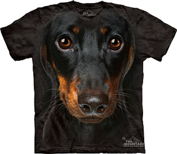 Black Dachshund Dog Face T-Shirt