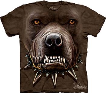 Angry Pitbull Dog Face T-Shirt or Nightshirt