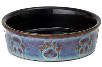 """Polished Paws 5"""" Antique Blue Small Dog Bowl"""