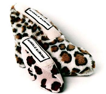 Manalo Barknik Cheetah Shoe Plush Dog Toy