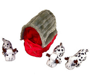 Plush Puzzle Dog Toy - Barn