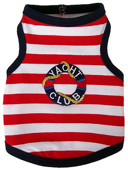 Yacht Club Dog Tank by Ruff Ruff Couture