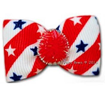 Dog Bow Barrette - Stars & Stripes