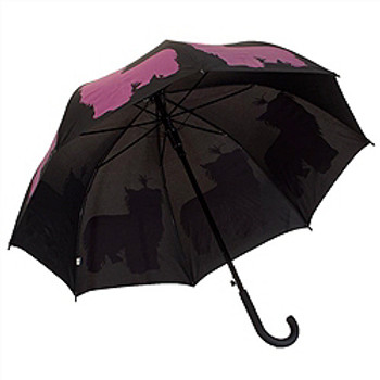 The Dog Park Umbrella Yorkie Silhouette