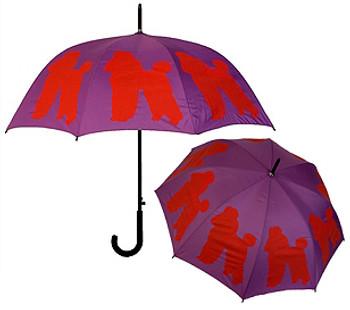 The Dog Park Umbrella - Poodle Silhouette