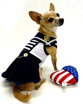 Sail Away Sailor Dog Dress by Ruff Ruff Couture