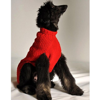 Red Cable Knit Dog Sweaters