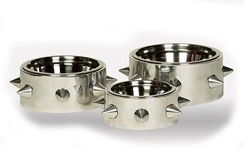 Bruno Polished Nickel Dog Bowl