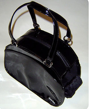Black Patent Bowling Ball Bag by Puchi Bag
