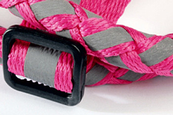 Braided Lumi Dog Leash & Step In Dog Harness Set - Fuchsia