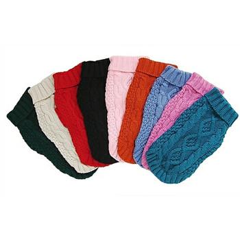 Irish Knit Dog Sweater - 8 Colors