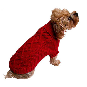 Red Irish Knit Dog Sweater