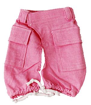 Pink Linen Dog Cargo Pants
