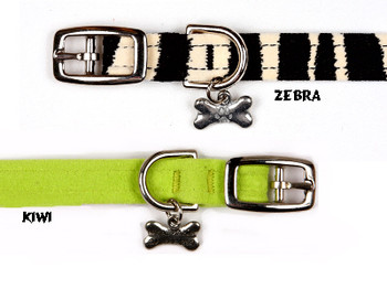 "Plain 1/2"" Ultra Suede Dog Collar - 30+ Colors"