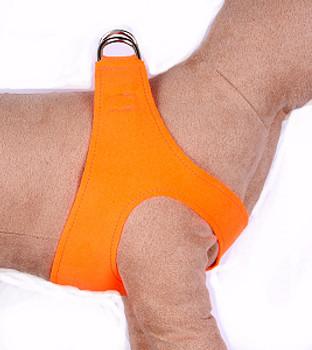 Electric Orange Dog Harness by Susan Lanci Designs
