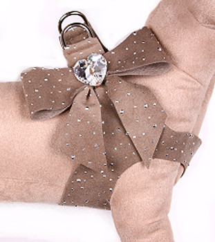 Susan Lanci - Fawn Silver Stardust Tail Bow Heart Step-In Harnesses