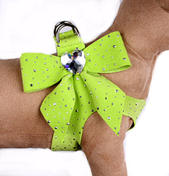 Susan Lanci - Kiwi Silver Stardust Tail Bow Heart Step-In Harnesses