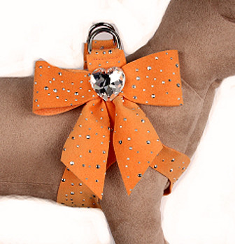 Susan Lanci - Tangerine Silver Stardust Tail Bow Step-In Harnesses