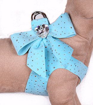 Susan Lanci Tiffi Blue Silver Stardust Tail Bow Step-In Harnesses