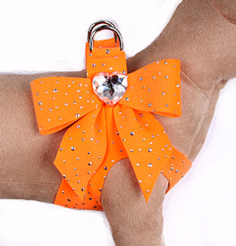 Electric Orange Stardust Tail Bow Step-In Harnesses