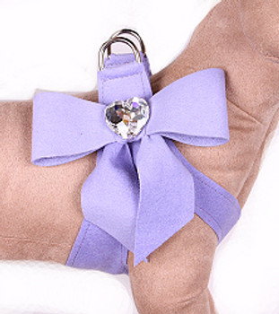 Susan Lanci - French Lavender Tail Bow Heart Step-In Harnesses