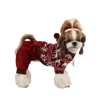 Reindeer Dog Jumpsuit by Puppia