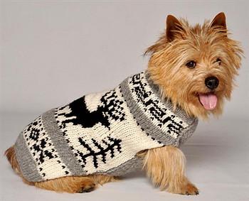 Reindeer Shawl Knit Dog Sweaters