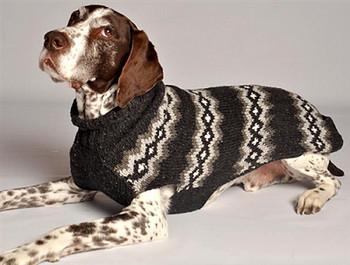 Grey Diamond Knit Dog Sweaters