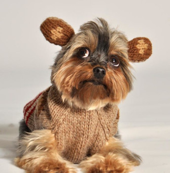 Monkey Hoodie Knit Dog Sweaters with Ears