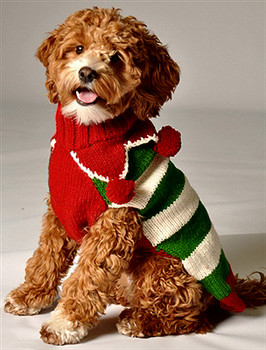 Christmas Elf  Knit Dog Sweaters, Teacup to Big Dog Sizes
