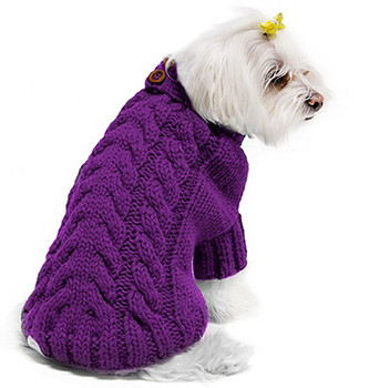 Urban Knit Dog Sweater by Fou Fou Dog - Fuchsia Pink