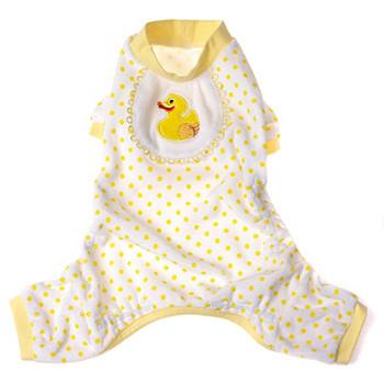 Yellow Duckie Dog Pajamas