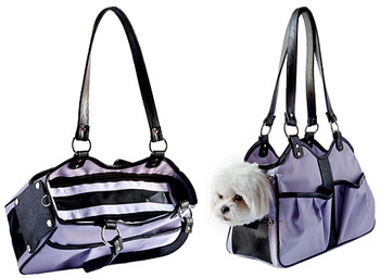 Metro 2 Lilac / Black Trim Pet Dog Carrier by Petote