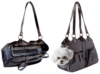 Metro Espresso Pet Dog Carrier by Petote