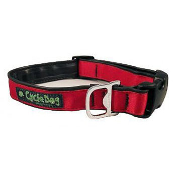 Dog Collar & Lead  - Solid Red