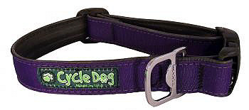 Dog Collar - Solid Purple - Made from Bicycle Tires
