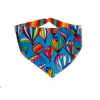 Bandana - Colorful Hot Air Balloons on Blue
