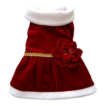 Red Velvet Christmas Dog Dress