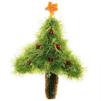 Christmas Tree Plush Dog Toy