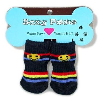 Happy Stripes Argyle Dog Socks