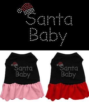 Santa Baby Rhinestone Christmas Dog Dress