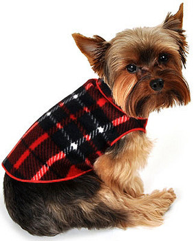 Red Blanket Plaid Pet Dog Pullover
