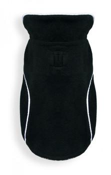 Reversible Polar Fleece Wrap Dog Coat - Black Plaid
