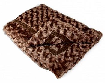 Chocolate Brown Mink Puppy Dog Blanket